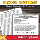 FSA Text Based Writing Introductions
