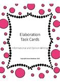 FSA Writing Task Cards:  Paragraph Writing & Elaboration