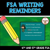 FSA Writing Reminders