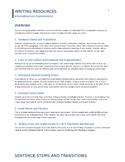 FSA Writing Resources