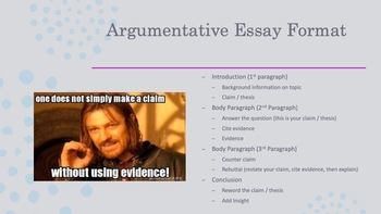 Editable FSA Writing Review PowerPoint
