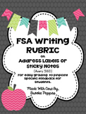 FSA Writing Rubric Labels and Sticky Notes