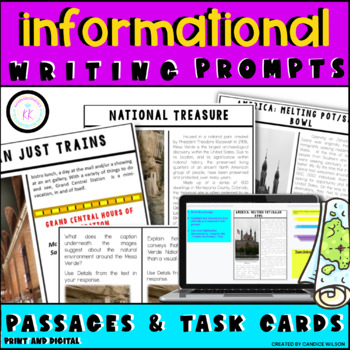 FSA Writing: Short Response Task Cards