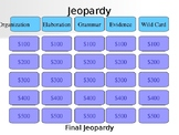 FSA Writing Test Prep Jeopardy