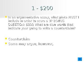 FSA Writing Test Prep Jeopardy