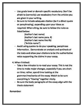 FSA Writing Tips for Grades 6-12