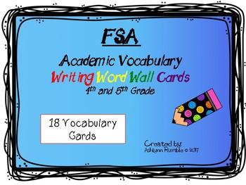FSA Common Core Writing Vocabulary Cards - Bugs set
