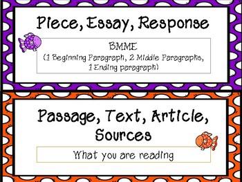 FSA Common Core Writing Vocabulary Cards - Fish set