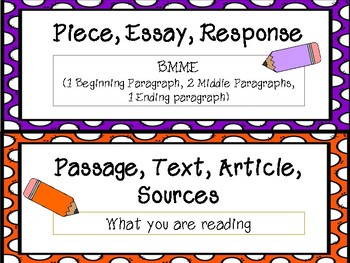 FSA Common Core Writing Vocabulary Cards - Pencil set