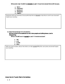 FSA and PARCC Test Prep - Lesson 22 - Flight of the Swallow - Journeys Readers