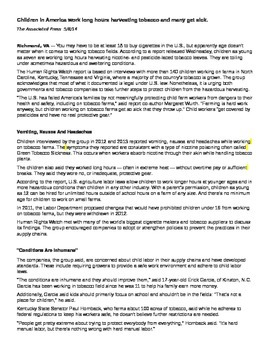 FSA-Style Essay Writing Instructions and Complete Resource