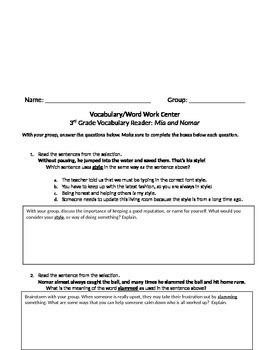 FSA and PARCC Test Prep - Unit 1 BUNDLE - Grade 3 Journeys Vocabulary Readers