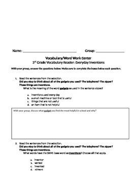 FSA and PARCC Test Prep - Unit 2 BUNDLE - Grade 3 Journeys Vocabulary Readers