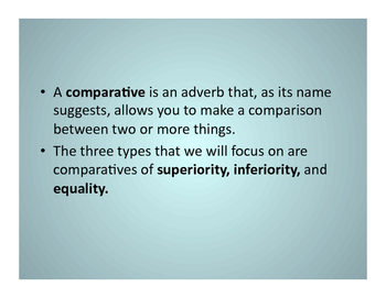 FSL Comparatives Notes
