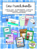 FSL / Core French BUNDLE with Unit Plans, Word Searches and More!