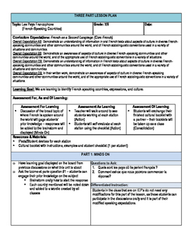 FSL Cultural Stations Lesson Plan - Ontario French Curriculum