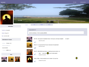 fsl french facebook profile template by teach share learn tpt