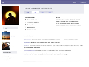FSL French Facebook Profile Template