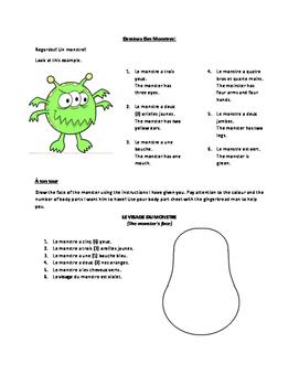 FSL Grade 4 Colours Numbers Body Parts - Dessinez Des Monstres
