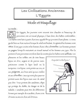 FSL L'Egypte Ancienne - Mode et Maquillage