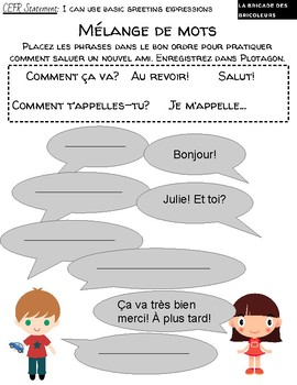 FSL Oral Communication iPad Lesson with Free App Plotagon! CEFR A1