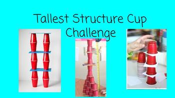 FSL STEM Challenge Card for A2-B1 Learners:Tallest Structure Cup Challenge