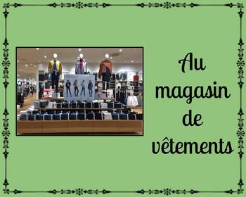FSL authentic tasks (tâches authentiques): au magasin de vêtements