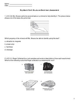 FSSA ALIGNED Big Idea 6: Earth Structures Benchmark Assessment
