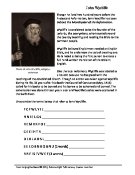 FTS Independent History Unit - Puzzle Sheets