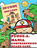 FUDGE-A-MANIA BOARD GAME- 108 COMPREHENSION QUESTIONS BY CHAPTER