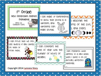 """NGSS Posters 1st Grade """"I Can..."""" aligned with Next Generation Science Standards"""