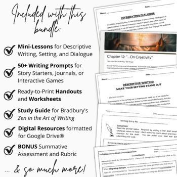 3-Week Creative Writing BUNDLE | Interactive Activities | Grammar Worksheets