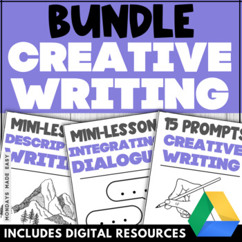 3-Week Creative Writing BUNDLE | Interactive Activities | Grammar Worksheets