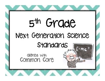 """5th Grade NGSS Posters """"I Can..."""""""