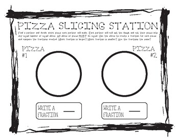 FULL BUNDLE    Comparing Fractions with Pizza