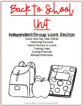 FULL Back to School Unit {August} for Special Education/Pre-K/ #BTSFRESH