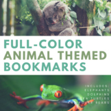 FULL COLOR Animal Themed Pun Bookmarks