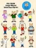 FULL COLOR Cougar Mascot School Days Clip Art