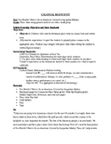 FULL Colonial Math Unit with Worksheets for 4th grade