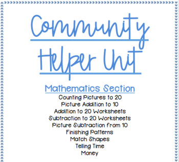 FULL Community Helpers Unit for Special Education, Autism, Pre-K/Kinder Classes!