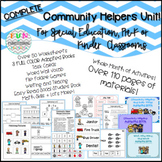 FULL Community Helpers Unit for Special Education, Autism,