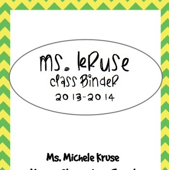 FULL Editable Teacher Binder Set COLOR!