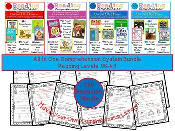 Reading Comprehension All-in-One BUNDLE, Levels .05-4.9 Co