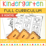 FULL Kindergarten Curriculum - 8 Months - NO PREP!