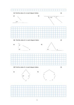 FULL Mathematics Exam - Coordinate Geometry, Trigonometry, Algebra
