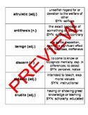 FULL SEMESTER High School SAT Vocabulary with Activities,