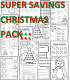 Christmas Activities 2nd Grade Math, Language, & Writing C