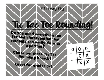 FULL SET Tic Tac Toe Rounding Math Intervention Small Grou