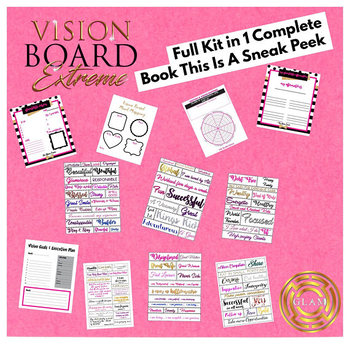 FULL SET Vision board kit in a book complete limited edition