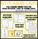 FULL Summer Unit for Special Education, Autism, ESY, Pre-K/Kindergarten
